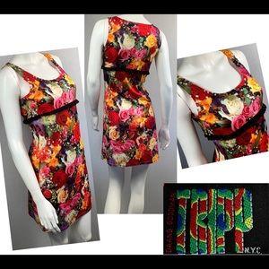 RARE Vintage Tripp NYC mod psychedelic mini dress
